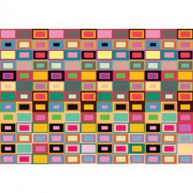 Fototapeta na stenu - FT5509 - Abstraktné farebné štvorce