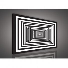 Obraz na plátne obdĺžník - OB0556 - Čiernobiele kocky