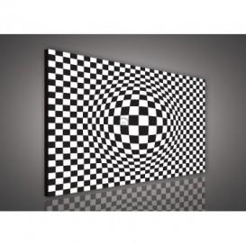 Obraz na plátne obdĺžník - OB0557 - Čiernobiele kocky