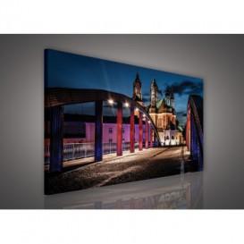 Obraz na plátne obdĺžnik - OB0560 - Nočné mesto