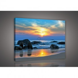 Obraz na plátne obdĺžnik - OB0218 - Západ slnka