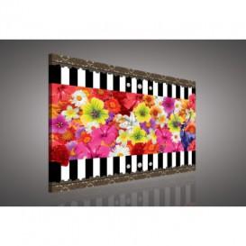 Obraz na plátne obdĺžnik - OB0580 - Farebné kvety