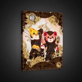 Obraz na plátne obdĺžnik - OB0620 - Medvedíky