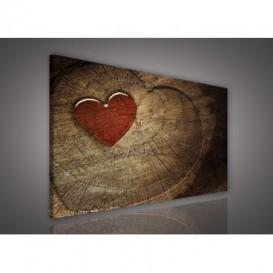Obraz na plátne obdĺžnik - OB0188 - Drevené srdce