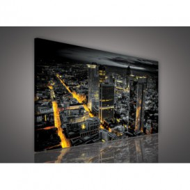 Obraz na plátne obdĺžnik - OB0016 - Mesto v noci