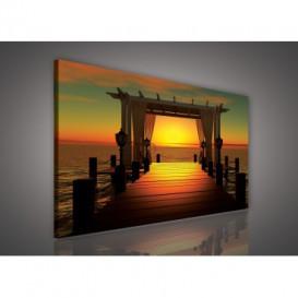 Obraz na plátne obdĺžnik - OB0222 - Západ slnka