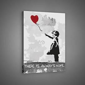 Obraz na plátne obdĺžnik - OB0667 - Dievča s balónom