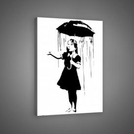 Obraz na plátne obdĺžnik - OB0668 - Dievča v daždi