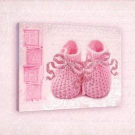 Obraz na plátne obdĺžnik - OB0677 - Detské papučky