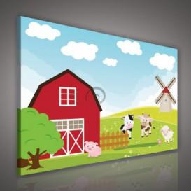 Obraz na plátne obdĺžnik - OB0679 - Zvieratká na farme