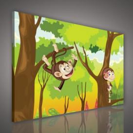 Obraz na plátne obdĺžnik - OB0680 - Veselé opice