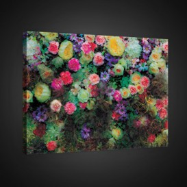 Obraz na plátne obdĺžnik - OB0715 - Farebné kvety