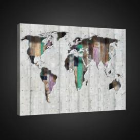 Obraz na plátne obdĺžnik - OB0716 - Mapa sveta
