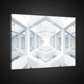 Obraz na plátne obdĺžník - OB0755 - 3D stĺpy