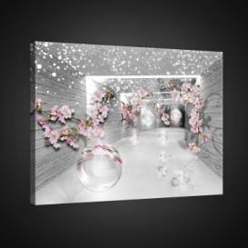 Obraz na plátne obdĺžnik - OB0770 - Ružové kvety
