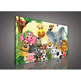 Obraz na plátne obdĺžnik - OB0030 - Kreslené zvieratká