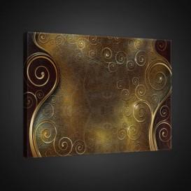 Obraz na plátne obdĺžnik - OB0793 - Zlatohnedé ornamenty