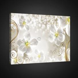 Obraz na plátne obdĺžnik - OB0797 - Biele kvety