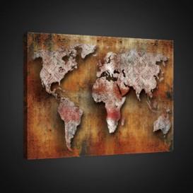 Obraz na plátne obdĺžnik - OB0798 - Mapa sveta