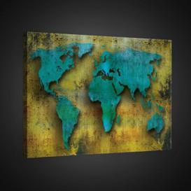Obraz na plátne obdĺžnik - OB0799 - Mapa sveta