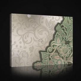 Obraz na plátne obdĺžnik - OB0870 - Zelený ornament