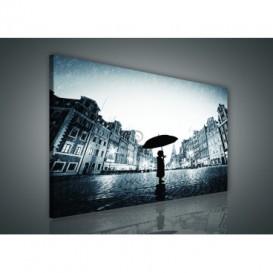 Obraz na plátne obdĺžnik - OB0879 - Dievča v daždi