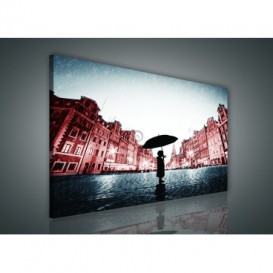 Obraz na plátne obdĺžnik - OB0880 - Dievča v daždi