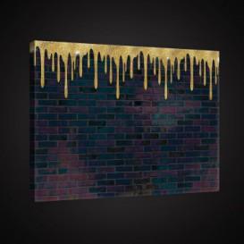 Obraz na plátne obdĺžnik - OB0891 - Tehlová stena