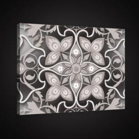 Obraz na plátne obdĺžnik - OB0895 - Biely ornament