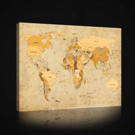 Obraz na plátne obdĺžnik - OB0931 - Mapa sveta