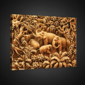 Obraz na plátne obdĺžnik - OB0950 - Slony