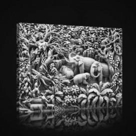 Obraz na plátne obdĺžnik - OB0973 - Slony