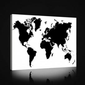 Obraz na plátne obdĺžnik - OB0974 - Mapa sveta