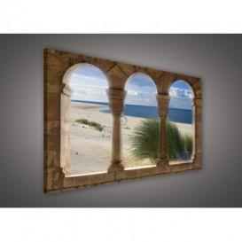 Obraz na plátne obdĺžnik - OB0235 - Oblúky a pláž