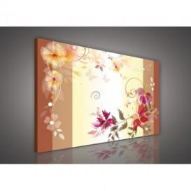 Obraz na plátne obdĺžnik - OB0148 - Kreslené kvety