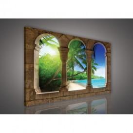 Obraz na plátne obdĺžník - OB0237 - Oblúky a pláž