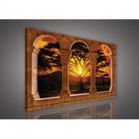 Obraz na plátne obdĺžnik - OB0238 - Oblúky a západ slnka