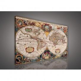 Obraz na plátne obdĺžnik - OB1110 - Mapa sveta