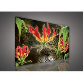 Obraz na plátne obdĺžnik - OB1118 - Červené kvety