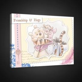 Obraz na plátne obdĺžník - OB1648 - Medvedík Pu a kamaráti