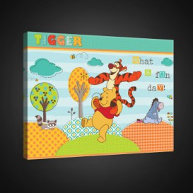 Obraz na plátne obdĺžnik - OB1654 - Medvedík Pu a kamaráti
