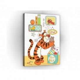 Obraz na plátne obdĺžnik - OB1656 - Medvedík Pu a kamaráti