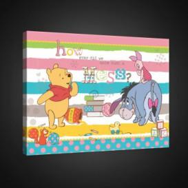 Obraz na plátne obdĺžník - OB1658 - Medvedík Pu a kamaráti