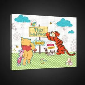Obraz na plátne obdĺžník - OB1663 - Medvedík Pu a kamaráti