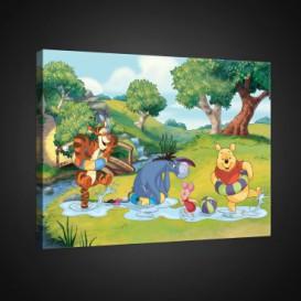 Obraz na plátne obdĺžník - OB1664 - Medvedík Pu a kamaráti