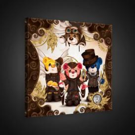 Obraz na plátne štvorec - OB1836 - Medvedíky