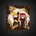 Obraz na plátne štvorec - OB1837 - Medvedíky