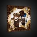 Obraz na plátne štvorec - OB1838 - Medvedíky