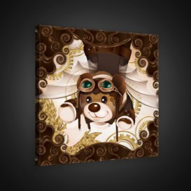 Obraz na plátne štvorec - OB1841 - Medvedíky