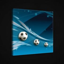 Obraz na plátne štvorec - OB1877 - Futbalová lopta
